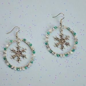 Winter/Christmas Earrings - Frozen Snowflake